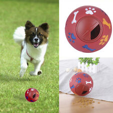 New Puppy Dog Play Ball Treat Dispenser Pet Cat Interactive  Toy Food Dispensing