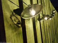 10x Ad Energia Solare Metallo Lanterna Da Appendere Giardino Filo Di Luci