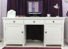 New England white painted furniture large hideaway office PC computer desk