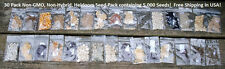 NON-HYBRID, NON-GMO, HEIRLOOM SEEDS! BEST ON EBAY! EMERGENCY SURVIVAL SEED BANK