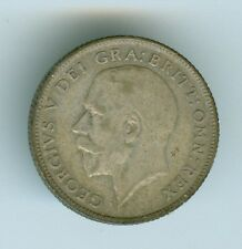 GREAT BRITAIN 1924 SIX PENCE--CIRCULATED--SILVER