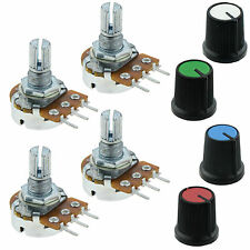 4 x 50K Linear Lin Potentiometer Pot with Coloured Knob