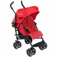 Kinderwagon - Skip Umbrella Stroller - Red With Rain Cover Cup Holder Brand New!