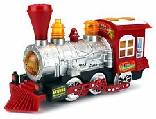 Steam Train Locomotive Kids Engine Car Bubble Blowing Bump & Go Battery Operated