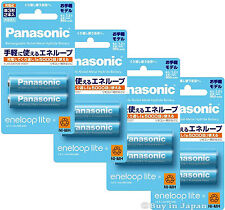 New! 8 Panasonic Eneloop Lite Batteries AA 5000 Times Rechargable Battery 950mAh