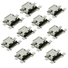 10X USB Micro-B Female Hembra 5 Pin SMT SMD Socket Enchufe Connector Conector