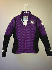 NEW WITH TAGS Puma down sweater blackberry cordial jacket ecosphere women's XS