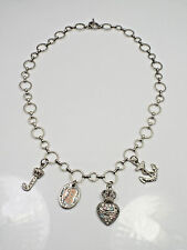 Juicy Couture Rhinestone 4 Charm Link Necklace, 18""