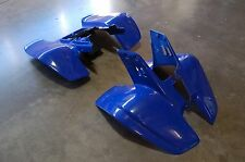 YAMAHA WARRIOR YFM 350 87 - 04 PLASTIC DARK BLUE FRONT AND REAR FENDER SET