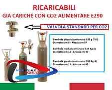 E290 BOMBOLA CO2 5KG ALIMENTI GASATORI ACQUARIO PIANTE aluminio 2016 + STAFFA