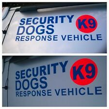 LARGE SECURITY VEHICLE IDENTIFY ROOF  STICKER DECAL-DOG HANDLER  (s538)
