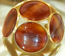 So Cool Vintage 60's Faux Tortoise Shell Domed Brooch 577JL6