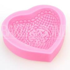 Textured Love Heart Romantic Cake Topper Fondant Sugarcraft Silicone Mould Bake