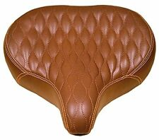 Fito GS Extra-Padded Seat Saddle, Brown, Beach Cruiser Tandem Lowrider bikes