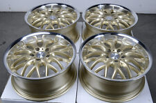 17 5x120 Gold Wheels Fits BMW 323 325 128 135 318 328 Z3 CTS 5 Lug Rims