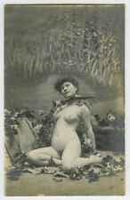 c 1910 Sexy Seductive Shapely NUDE BEAUTY French Risque photo postcard