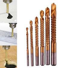 6x Titanium HSS Drill Saw Bit Set Slot Cutting Wood Metal 3-8mm Hole Cutting FZ