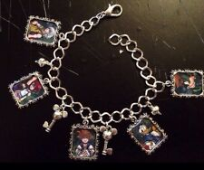 Silver Plated Charm Bracelet With Charms Disney Kingdom Hearts Ps3 Ps2