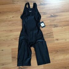 NIKE Swift II Black Neck To Knee High Swimsuit Kneeskin Racer Fina WMS 32 6 $290