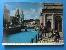 Postcard - St.Finbarr's Cathedral and River Lee, Cork City, Ireland stamped 1964