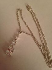 (SS5) SILVER plated SWAROVSKI ELEMENTS CRYSTAL PENDANT & NECKLACE