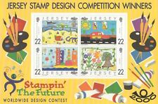 JERSEY STAMP DESIGN COMPETITION WINNERS 2000 MNH STAMP SHEETLET
