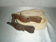 *VINTAGE/ANTIQUE LUNGE LINE AND LEAD LINE PAIR COTTON WEBBING, LEATHER & BUCKLES
