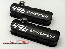 Big Block Chevy 496 STROKER Die Cast Aluminum Black Powder Coat Valve Covers