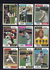 1974 TOPPS BASEBALL ~ YOU PICK (25) ~ BIG LIST~ COMPLETE YOUR SET  EX or BETTER