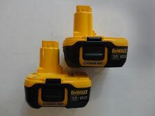 (2) DEWALT DC9182 18V 18 Volt Lithium Ion Battery Packs 2016 replaces DC9180