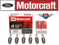 Brand New Set of 6 Motorcraft SP413 Spark Plugs AGSF32N