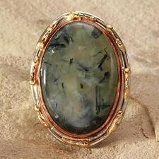 New Tara Mesa 45.35ctw Prehnite Knuckle Ring ~ Size 9 Adjustable