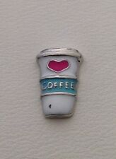 Coffee Cup Charms for Glass Floating Memory Lockets #272PW