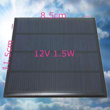 12V 100mA 1.5W  Solare Pannello Fotovoltaico ideale per auto ricarica batteria