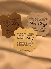 50 Personalized Favor/Gift Tags - Modern, Rustic, Classic Wedding