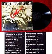 LP Georg Kreisler: Vorletzte Lieder (Preiser 1C 062-94 083) D 1972