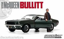 GREENLIGHT 12885 BULLITT 1968 FORD MUSTANG GT 1/18 GREEN w STEVE MCQUEEN FIGURE