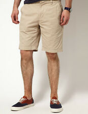 "MEN`S NEW AMERICAN EAGLE CHINO SHORTS 36""W LIGHT BEIGE CASUAL GOLF RRP £30"