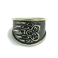 R001459 SOLID STERLING SILVER RING 925 CELTIC SYMBOL TRIQUETRA
