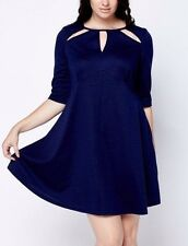 BNWT THREADS NAVY CUT OUT NECK CASUAL AUTUMN/WINTER DRESS SIZE 22 PLUS SIZE ♡♡♡