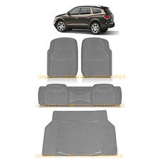 CHARCOAL GRAY HEAVY DUTY RUBBER FLOOR MATS CARGO TRUNK MAT 4PC for BUICK ENCLAVE