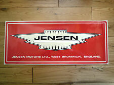 JENSEN Large Red Workshop Garage Sign STICKER Interceptor CV8 Healey FF GT PW S