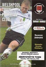 Había ciudad V aberystwtyth ciudad programa de fútbol 15/2/2005