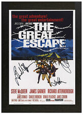 A3 framed poster the great escape steve mcqueen signed photo