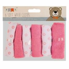 6 pack baby kids soft wash cloth bain alimentation douche serviette flanelle essuyer rose