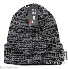 Beanie knit hat Cuffed Skull cap 3M Brand THINSULATE Insulation 40g- Gray/ Black