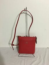 NWT COACH  North/South Swingback in embossed Textured Leather 52348, True Red
