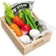 Le Toy Van Crate of Harvest Vegetables | Toy Wooden Vegetables in a Crate