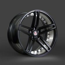 20x8.5 & 20x10 Axe EX20 Semigloss Black Mirror Barrel 2pc Staggered Wheel 20""