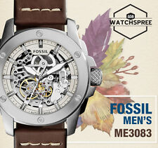 Fossil Modern Machine Automatic Men's Leather Watch ME3083
